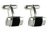 Silver Cufflinks with Black Onyx