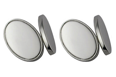 Silver Cufflinks Oval design