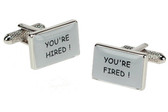 "Funny ""You're hired"" Cufflinks"