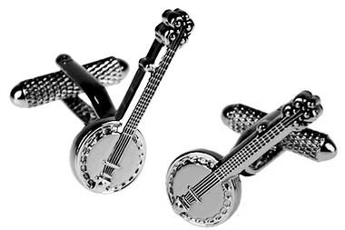 Banjo Musical instrument cufflinks