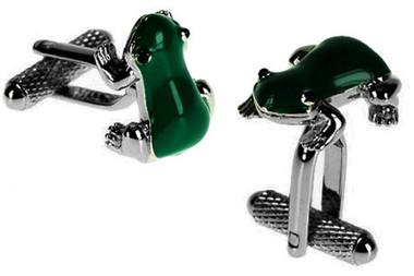 Green Frog Cufflinks