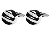 Desnisonboston Black Ripples designer cufflinks