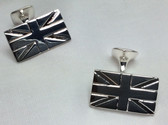 Handmade Silver Plated Union Jack Cufflinks