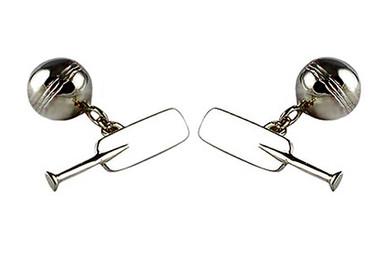 Silver Cricket cufflinks