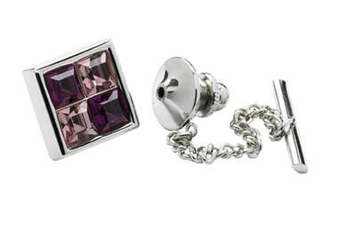 Amethyst Crystals Tie pin