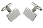 Silver plated cufflinks