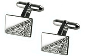 Silver plated cufflinks: suitable for personalised engraving or lovely as they are!