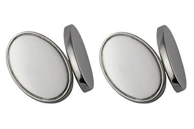 Silver plated cufflinks