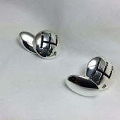 Gear Stck, Silver-plated Chain-linked Cufflinks