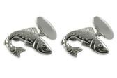 Silver Fish Cufflinks