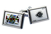 Blackjack Gambling  cufflinks  [Ace of Spades and Jack of Spades]