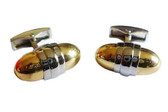 Oval / Two Tone / Formal cufflinks