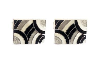 Sterling Silver Hallmarked Duchamp Luxury Designer cufflinks