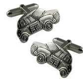 Silver Plated Mini Car Cufflinks