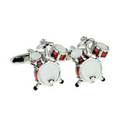 Beat to the rhythm with our fabulous red dum kit cufflinks