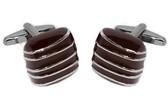 'Chocolate' style formal cufflinks