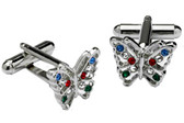 Crystal Butterfly Cufflinks