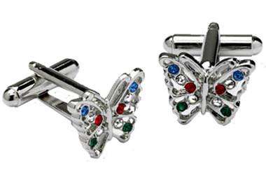 Crystal Butterfly Cufflinks
