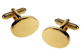 Oval Gilt Cufflinks : suitable for engraving (additional charge)