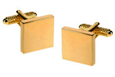 Square Gilt cufflinks: suitable for engraving (additional charge)