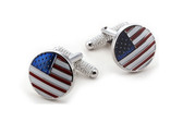 Star and stripes cufflinks