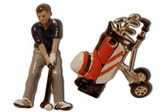 Golfer with Golf bag Cufflinks