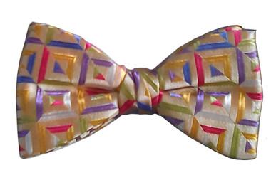 Silk men's bow tie