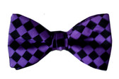 Purple silk men's bow tie