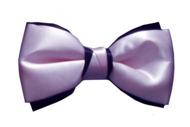 Pink & Black bow tie