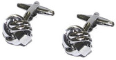 Rhodium Plated Knot Cufflinks