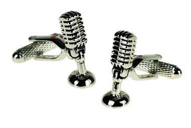 vintage style microphone cufflinks