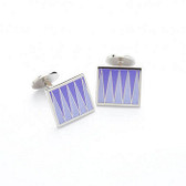 Purple jagged design cufflinks