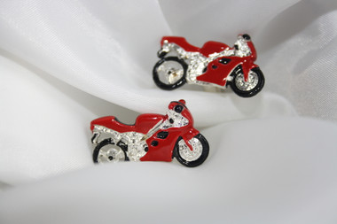 Fast and Furious: Red Motorcycle Cufflinks