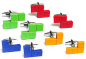 Choose your colour and shape - or get all four to make your own cufflink combinations!