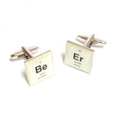 Be-Er Periodic Table (beer) tile style Cufflinks