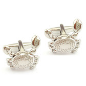 Crab With Moving Claws Cufflinks