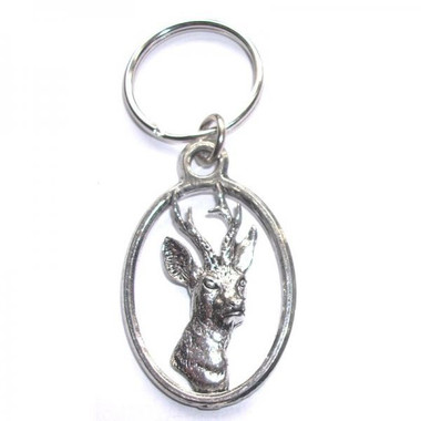 Roe Deer pewter keyring