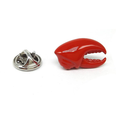 Red Lobster Claw Lapel Pin Badge