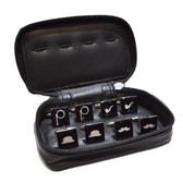 Leather Travel Case complete with four pairs of retro design Cufflinks