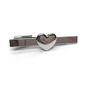 Domed Heart Tie Clip Slide