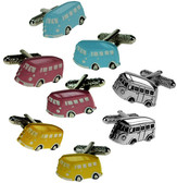 Camper Van Transport Cufflinks