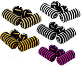 Stripy material knot cufflinks: excellent value and a choice of colours