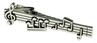 Hit the right note evey time with this music stave tie bar