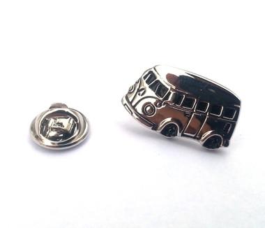 VW Style Camper Van Lapel Pin Badge