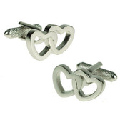 Beautifull 'twin' hearts, entwined as one cufflinks