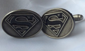Oval Cufflinks with Superman logo