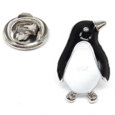 Black & White Classic Penguin Design Lapel Pin Badge