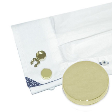 Gold plated button covers - an alternative for shirts without cufflink holes
