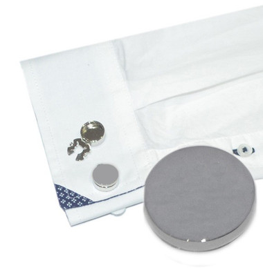 Rhodium plated button covers - an alternative for shirts without cufflink holes