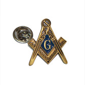 Masonic Regalia with G Lapel Pin Badge